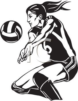 0511-1007-0816-2063_Girl_Playing_Volleyball_Using_a_Bump_Pass_clipart_image