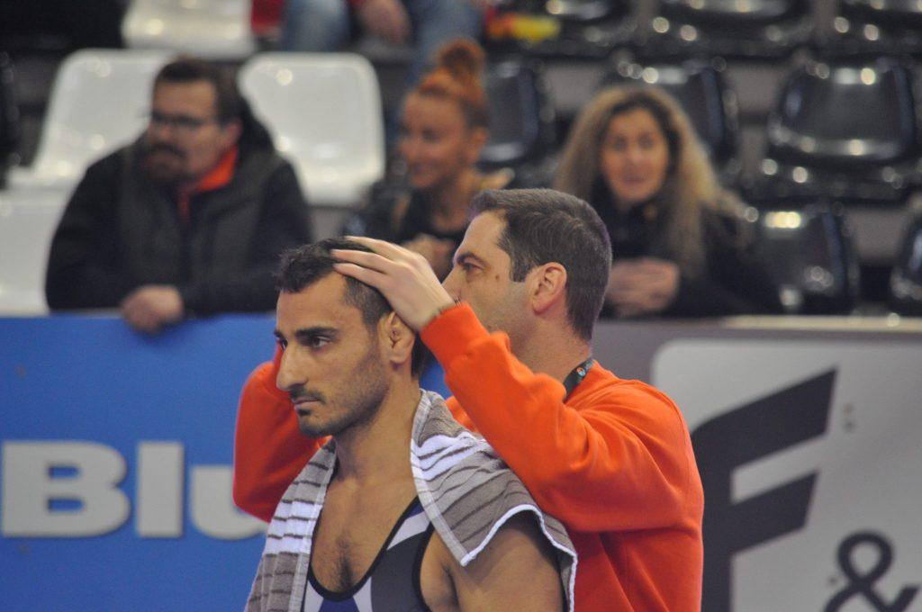 Ο Μαματζανιάν Νεκτάριος με τον προπονητή του κ. Οντρμπάσογλου Παντελή